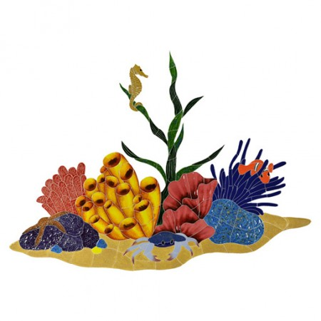 Mosaic Tropical Coral Reef
