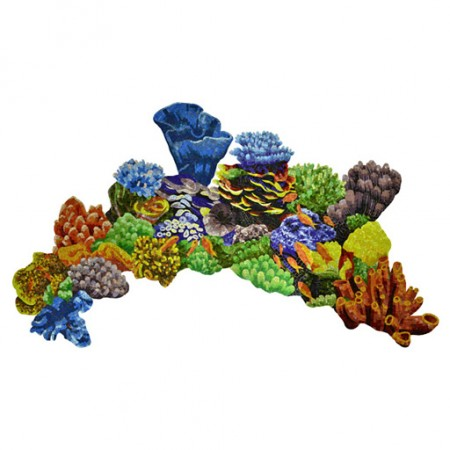 Coral Reef Topview Glass Tile Mosaic